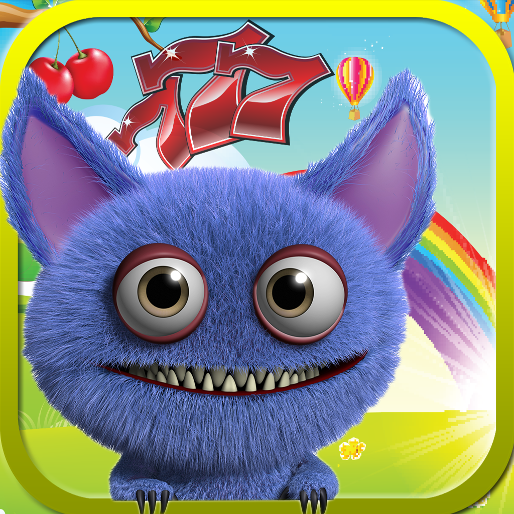 Crazy Monster Slots Free - Cute Furry Casino Simulation Game